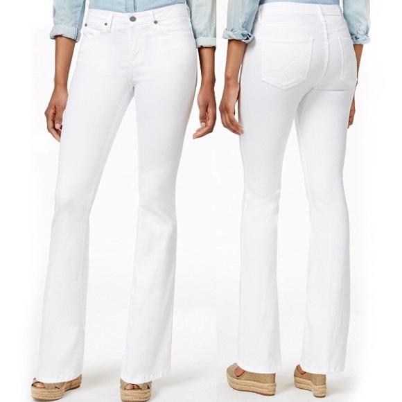Calvin Klein Jeans Denim - Calvin Klein White Stretch Denim Flare Jeans 49f265225b
